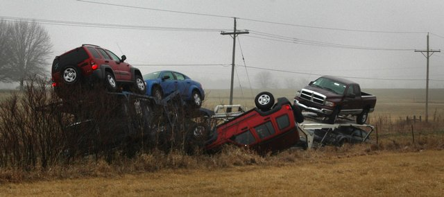 kansas car carrier wreck