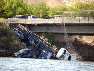laughlin-auto transporter in the river