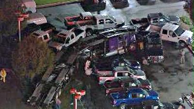 puente hills car carrier crash2