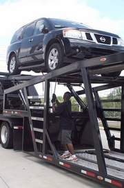 Jack Key driver loading out of Duece McAllister Nissan