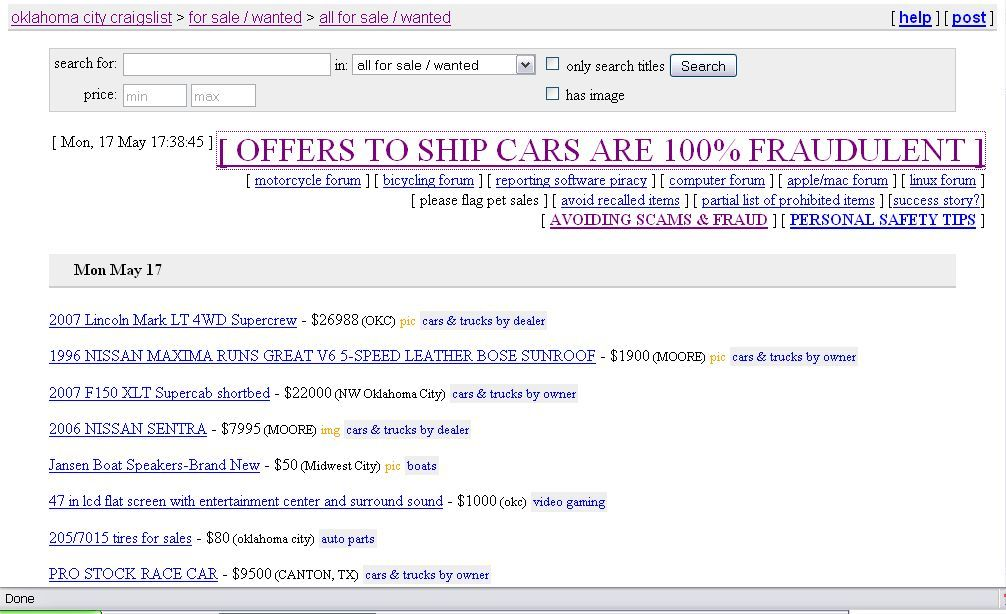 Transport scammers on Craigslist | TransportFool