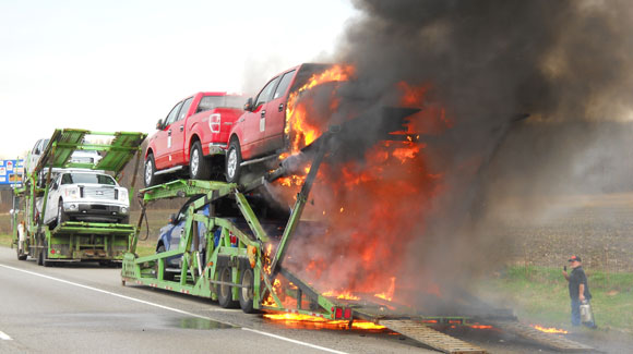 Allied Truck Burns In Indiana Transportfool