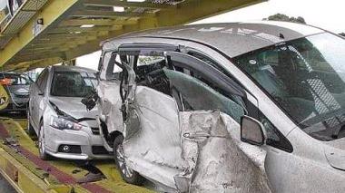 car carrier auto transporter fatal wreck