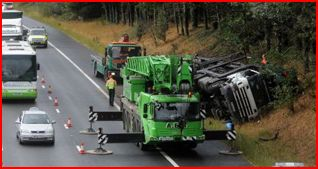 auto transporter on its side m6