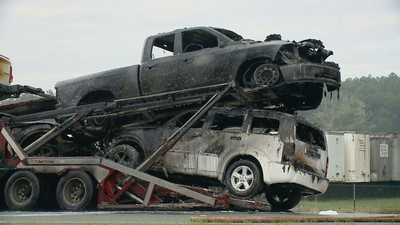 jacksonville auto transport fire