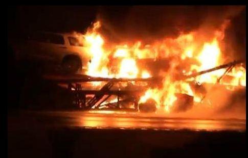 Jack cooper auto transport kentucky I-71 fire