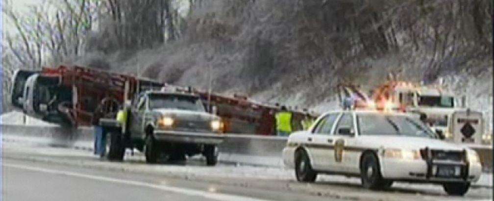 auto transporter I-70 wreck