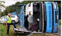 christchurch auto transporter wreck