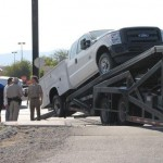 car carrier auto transporter stuck in pahrump2